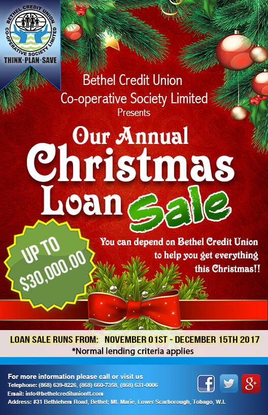 Christmas Loan Promotions.Chrsitmas Loan Sale 2017 Bethel Credit Union