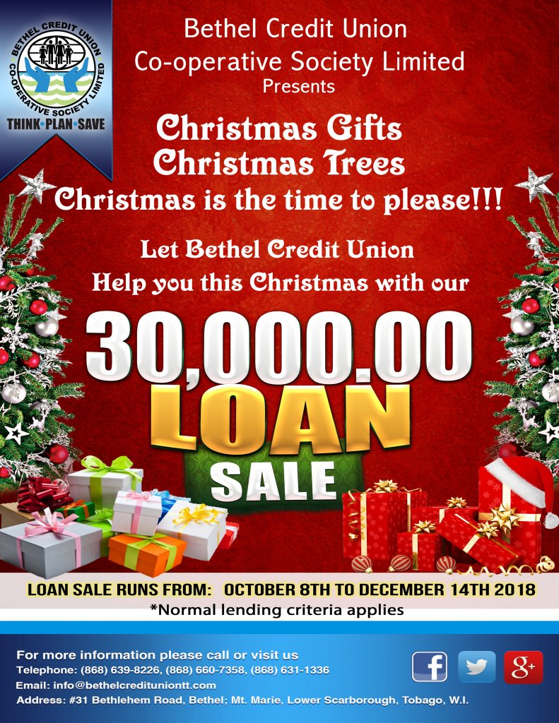 Christmas Loan Promotions.Chrsitmas Loan Sale 2018 Bethel Credit Union